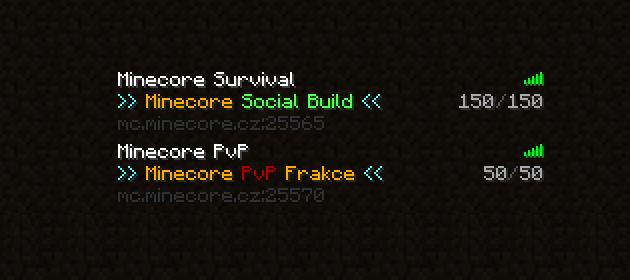 Minecore-Minecraft-servery