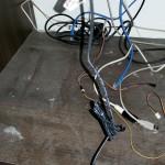 Skříň po půl roce bez údržby, servery odneseny ven
