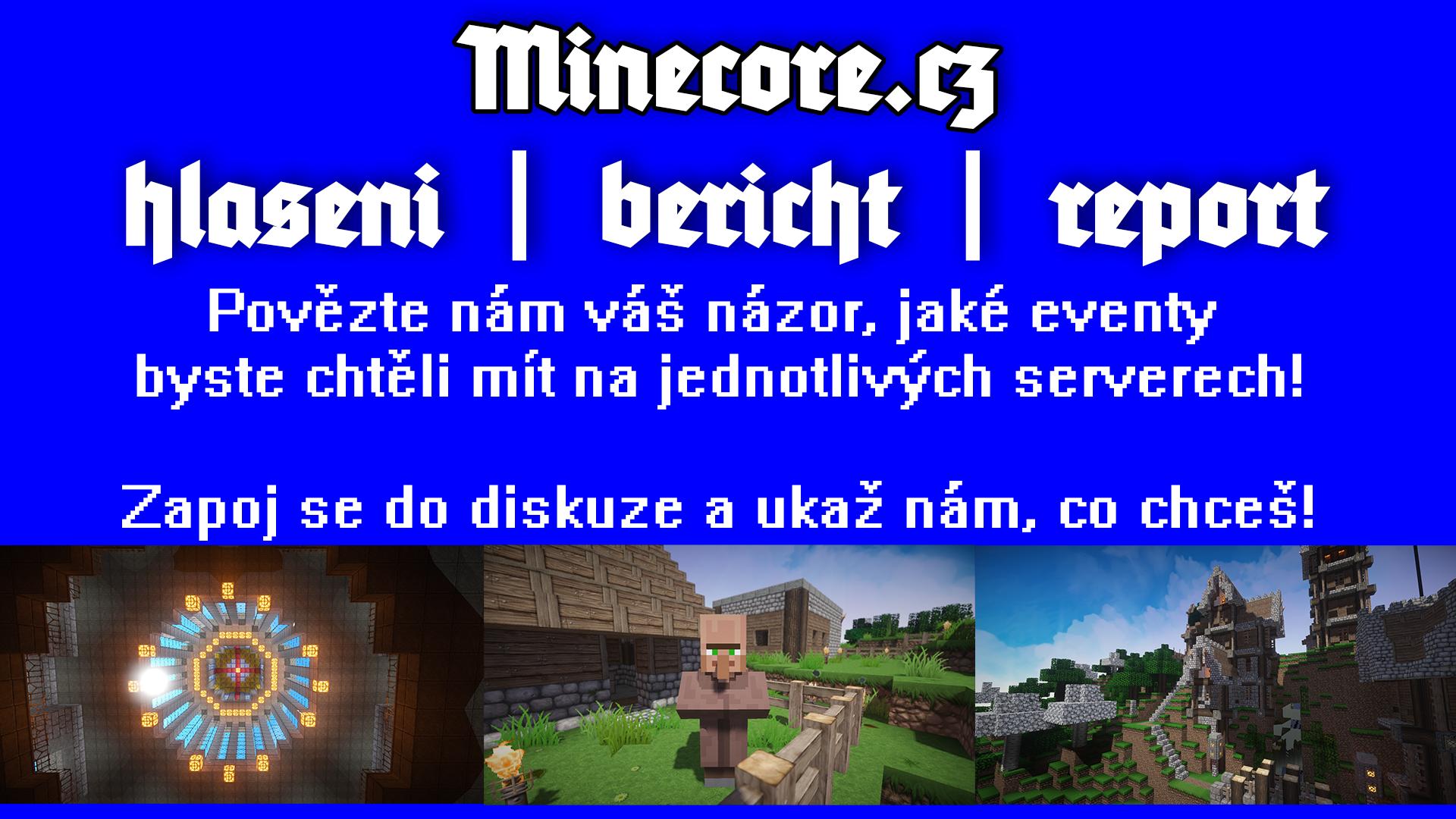 Jaké eventy chcete na serveru?