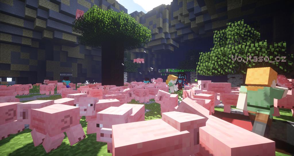 Zabíjení prasat na Minecraft serveru zvané PigKiller