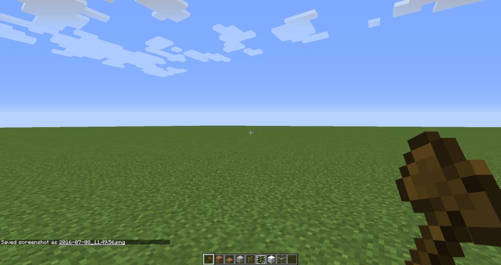 Ukázka flat mapy pro Creative Minecraft server